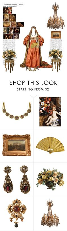 """""""Leo:Baroque Era"""" by thisworldistoobeautiful1139 ❤ liked on Polyvore featuring Dolce&Gabbana, Susan Caplan Vintage and Chandelier"""