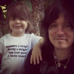 Tom Keifer with his son on Fathers Day.