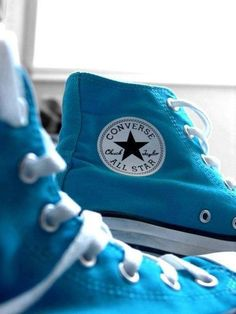 #shoes #blue #style #chucktaylors