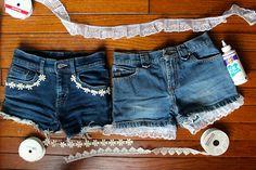 Spruce up your favourite denim shorts! #DIY #summer #fun