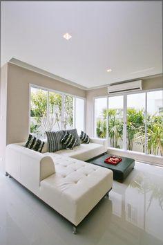 Sofa-stoff Weiß - Stillvolles Wohnzimmer Modern | Wohnen Mit Weiß ... Wohnzimmer Weis Modern