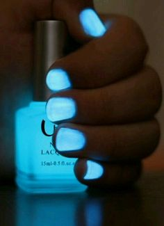 Break Open a Glow Stick & Place It Into Clear Nail Polish .. Great for Concerts