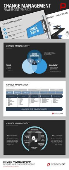 Five Forces Analysis PowerPoint Template Business Planning - change management plan template