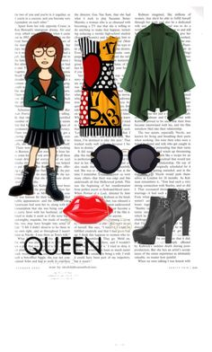 """""""Daria"""" by catiecue on Polyvore featuring daria, Moschino, Karen Walker and WithChic"""