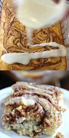 This easy cinnamon roll cake recipe is the best. Get the taste of homemade cinna… This easy cinnamon roll cake recipe is the best. Get the taste of homemade cinnamon rolls without all the work. You have to try this fun twist on a coffee cake recipe. Best Cake Recipes, Fun Easy Recipes, Sweet Recipes, Easy Meals, Favorite Recipes, Easy Baking Recipes, Simple Dessert Recipes, Recipes For Desserts, Easy Snacks