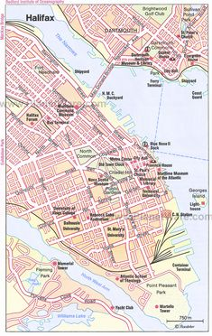 Map of Halifax, Nova Scotia, Canada. Halifax Map, Halifax Canada, Halifax Waterfront, Nova Scotia Tourism, Nova Scotia Travel, Canada Cruise, Canada Travel, Canada Trip, Canada Eh