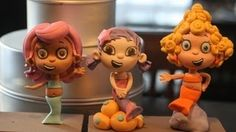 modeling a gumpaste figure video tutorial, Bubble Guppies!