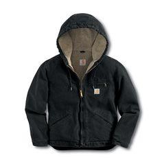 Carhartt WJ141 - Carhartt Women's Sandstone Sierra Jacket - Sherpa-Lined at Dungarees Carhart Store