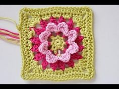 How to crochet this granny square