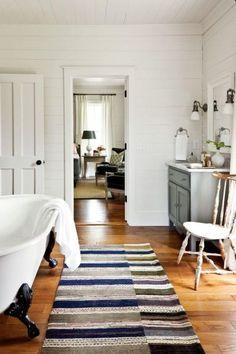 """magicalhome: """" Vintage, en suite farmhouse bath. southernliving.com """""""