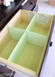 DIY Drawer Dividers - This tutorial shows you how to make inexpensive and custom Drawer Dividers for any drawer using items you have on-hand around the house!