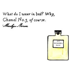 Marilyn Monroe Chanel No. 5 - Chanel Perfume - Coco - Chic -... ($20) ❤ liked on Polyvore