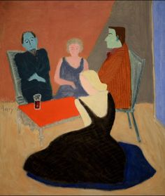 art-centric:  Milton Avery - Conversation in the Studio