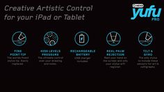 YuFu Pro - Pressure Sensitive Stylus for iPad and Android tablets - HEX3