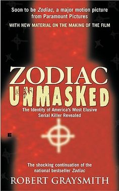 Zodiac Unmasked: The Identity of America's Most Elusive Serial Killers Revealed-- Robert Graysmith. For what it's worth, I think he got it right.