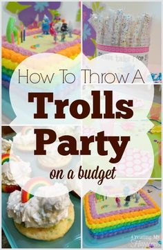 Throwing a Trolls party, or any themed party, can be expensive.  Here are some tips to creating a great look without a huge price tag. via @creatingmyhappy