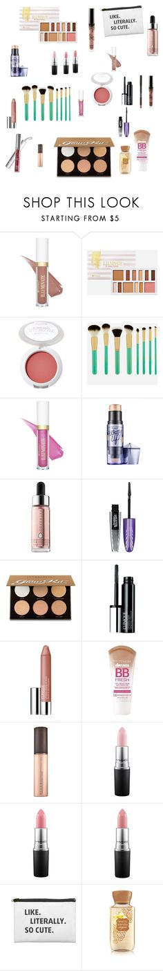 """""""MAKEUP MUST HAVES!😍"""" by sabellacunningham ❤ liked on Polyvore featuring BHCosmetics, Cover FX, Anastasia Beverly Hills, Clinique, Maybelline and MAC Cosmetics"""