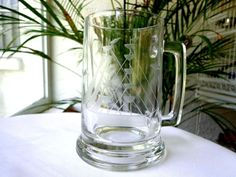 Javit Clipper Ship Tankard Clear Beer Mug Glass Collection #Javit