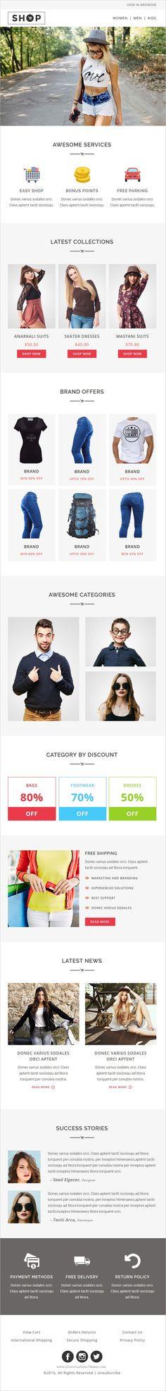 BEZIER - Modern Email Template + Online Access (Marketing, Email - marketing email template