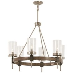 Buy the Minka Lavery Stone Grey with Brushed Nickel Direct. Shop for the Minka Lavery Stone Grey with Brushed Nickel Bridlewood 6 Light Wide Taper Candle Ring Chandelier with Seedy Glass Shades and save. Ring Chandelier, Wagon Wheel Chandelier, Rustic Chandelier, Contemporary Chandelier, Chandelier Lighting, Modern Contemporary, Chandeliers, Chandelier Ideas, Kitchen Chandelier
