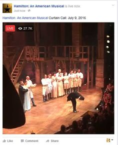 Lin's final bow for Hamilton Fan Out, Curtain Call, Lin Manuel, Live In The Now, Shakespeare, Hamilton, Connect, Musicals, Broadway