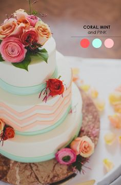 The Perfect Palette: 10 Color Inspiring Wedding Cakes