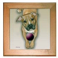 Pit Bull Terrier Trivet: This is one gift that will keep on giving forever with your divine Pit Bull… #PetProducts #PetGifts #AnimalJewelry