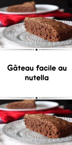 easy nutella cake is an easy recipe and especially quick to make a delicious chocolate cake for your dessert. Hot Chocolate Gifts, Chocolate Candy Recipes, Soft Chocolate Chip Cookies, Tasty Chocolate Cake, Banana Nutella Crepes, Nutella Cake, Banana Bread, Rhubarb Cake, Rhubarb Recipes