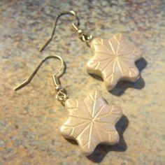 Snowflake Polymer Clay Earrings