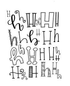 "414 Likes, 16 Comments - Jessie Arnold (@mrs.arnoldsartroom) on Instagram: ""Letter H! #handletteredabcs #handletteredabcs_2017 #abcs_h #lettering #handlettering #letterer…"""