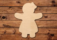 This item comes unfinished and is made from Baltic Birch. It is lightly sanded and can be painted or stained. Christmas Snacks, Christmas Decorations To Make, Christmas Themes, Pencil Door Hanger, Wooden People, Burlap Door Hangers, Wooden Cutouts, Wood Flowers, Wood Ornaments