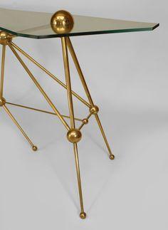Mid-Century Modern Freak   Italian Brass Console by Fedele Papagni for...