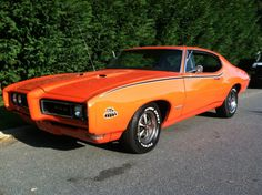 "Pontiac ""The Judge"" GTO, large block V8, Three Deuces, from the factory."