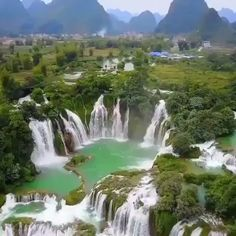 Vietnam is home to one of the most beautiful waterfalls on earth, it looks like something from a fantasy movie 😍 It's located near the… Beautiful Photos Of Nature, Beautiful Nature Wallpaper, Beautiful Places To Travel, Nature Pictures, Amazing Nature, Beautiful Landscapes, Beautiful World, Amazing Photos, Nature Gif