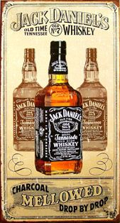 Jack Daniels Tin Sign Charcoal is a brand new vintage tin sign made to look vintage, old, antique, retro. Purchase your vintage tin sign from the Vintage Sign Shack and save.