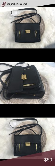3.1 Philip Lim Black Mini crossbody bag zip Rad Gorgeous women's mini crossbody bag 3.1 Philip Lim Black villa with target Bags Crossbody Bags
