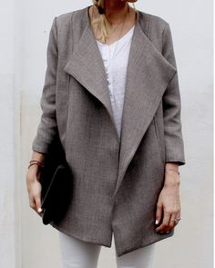 Brenna Coat . womens - Pattern and Tutorial by Cali Faye Collection.  Designer -S.Blaho
