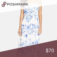 Ralph Lauren Georgette strapless dress gown Beautiful Ralph Lauren dress - only worn once to wedding! So so stunning, lots of compliments and colors really pop! Artful ruching crisscrosses the strapless sweetheart bodice of a sweeping floral-print gown with a full-length, floating skirt to complete the ethereal silhouette. Cheaper on Ⓜ️!   Feel free to make an offer!! 🛍💵  Always happy to bundle! 💝👍🏼📦  No trades please! 🙅🏻👎🏼  I try to ship quickly! 📬🏃  Thanks for stopping by…