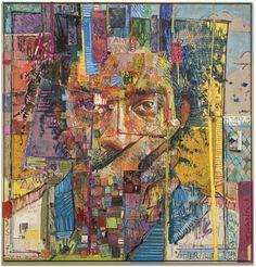 Towering Mixed Media Portraits by Andrew Salgado #mixedmedia #art
