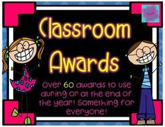 This is the only award and superlative set you will need all year! These end of year classroom awards have all types of certificates that you can give your students at the end of the year or any time of the year in fact!Ever have a hard time thinking about an award for EVERY single student in your class?
