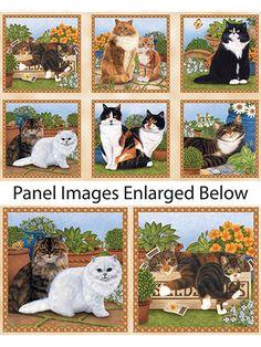 "Fabric - Feline Fine Panel - 24"" x 44"" - #278006 ~ FABRIC"