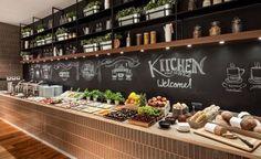 Design Hotel in Gdansk + Flights Hotel Breakfast Buffet, Hotel Buffet, Breakfast Restaurants, Bbq Restaurants, Restaurant Pictures, Hotel Food, Kitchen Buffet, Food Displays, Cafe Food