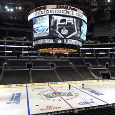 STAPLES Center is ready for the Stanley Cup Finals! (via nhl_junior on Twitter)