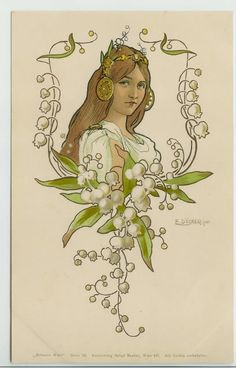 Art Nouveau Lily of the Valley by E.Docker for Penhaligons