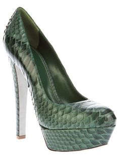 SERGIO ROSSI Crocodile Leather Pump
