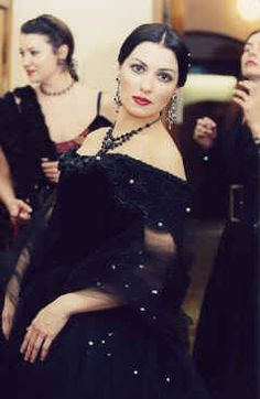 Anna Netrebko as Violetta in La Traviata. Evening Gown.