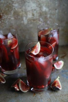 Autumn Sangria with Apples, Pomegranates and Figs -- brandy, prosecco, pomegranate juice, fresh figs and apple slices combine to create a warming fall sangria rich in flavor and color. Easy to make for a crowd, just throw it all in a pitcher and let chill!