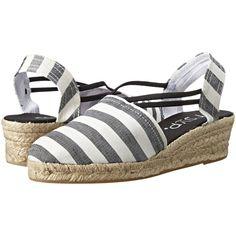 3f06609ad58e20 rsvp Jelena (Black Ocean Black Stripe) Women s Wedge Shoes ( 36) ❤