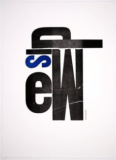 SFMOMA | Explore Modern Art | Our Collection | Jack W. Stauffacher | Waves Murmur, from the Vico Wooden Letters portfolio