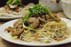 Elinluv's Tidbits Corner: Slim.mee Noodles With Braised Chicken, Mushroom An...